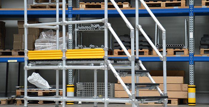 Mobile Arbeitsbühne aus Kee Lite oder Kee Klamp Rohrverbinder