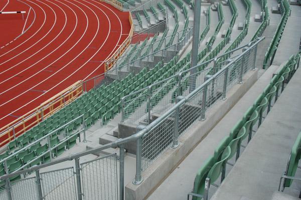 Kee Klamp im Sport Zuschauer Abgrenzung Wellenbrecher