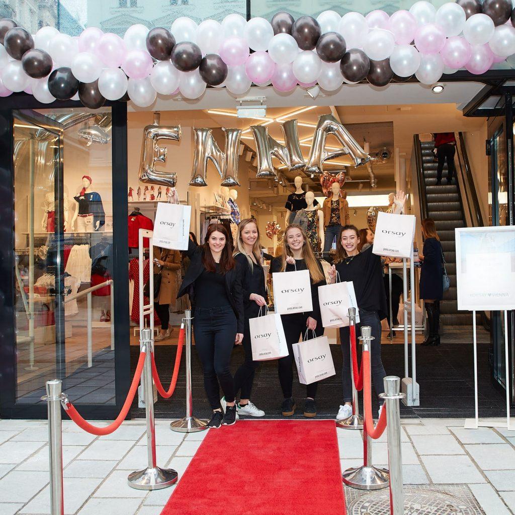 Internationale Modekette Orsay benutzt Kee Klamp Rohrverbinder