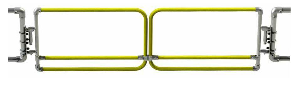 Kee Gate selbstschließende Sicherheitstüre Doppeltüre