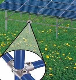 Kee Klamp Rohrverbinder bei Solaranlagen