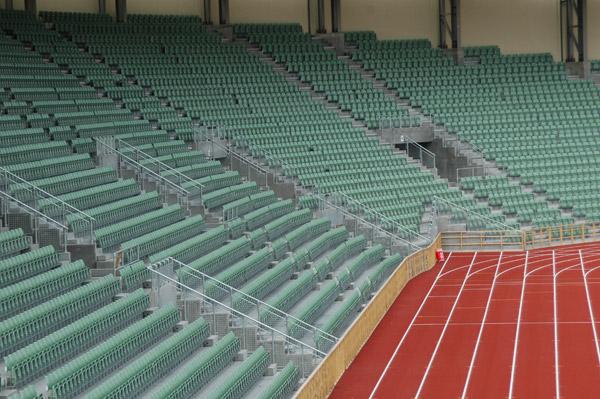 Kee Klamp im Sport Zuschauer Abgrenzung