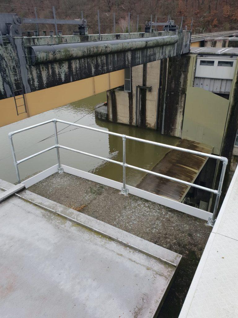 Kee Klamp im Wasserkraftwerk hier Wehrfeld-Sicherung
